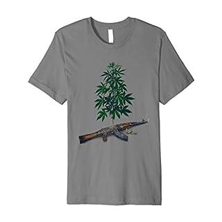 Casualties of Weed AK-47: Cannabis Tees Marijuana T-Shirts