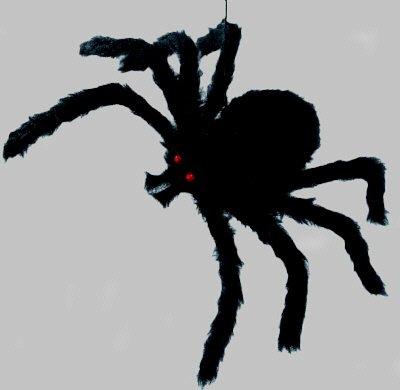 Halloween-Deko: Riesen-Spinne 50x42 cm schwarz, Styrofoam, Lieferung Frei (Riesen Spinne Halloween Deko)