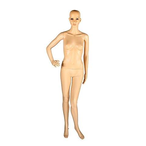 Yosoo Abnehmbar Schaufensterpuppe (aus PE-Kunststoff) Schaufensterfigure Weiblich Männlich Mannequin Modepuppe Puppe Ganzkörper (Weiblich - 175 cm)