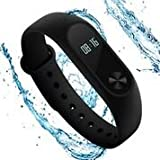 Fitness Tracker with Heart Rate Monitor and OLED Display for Women, Kids and Men, Waterproof Watch with Pedometer, Xiaomi MiBand 2 Wireless Bluetooth 4.0 Wristband.