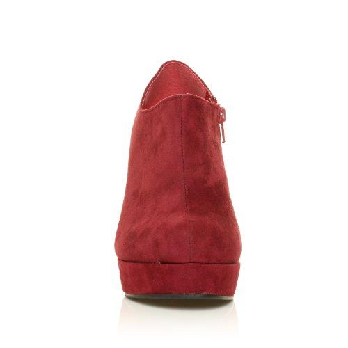 De De Elevado H051 Cunha Arte Camurça Borgonha Muito Saltos Calcanhar Bombas Camurça Sapatos Salto Altos Patamar q7B4n7w6