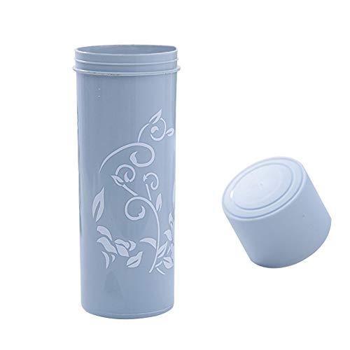 Fliyeong Simple Style Reisezahnbürste Zahnpasta Aufbewahrungsbox Floral Kunststoff Wandern Camping Zahnbürste Fall Box Cup für Reise Blau Langlebig und Nützlich Cups Fall
