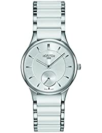 Roamer Women's Quartz Watch with Silver Dial Analogue Display and White Ceramic Strap 677855 41 15 60