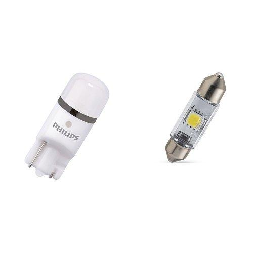 Preisvergleich Produktbild Philips X-tremeVision LED W5W T10 6000K 127996000KX2, 2er Karton +  Philips 128596000KX1 X-treme Vision LED-Soffitte, 38 mm 6000K 12V, 1-er Karton von Philips