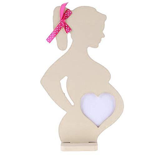 Dengofng Suministros de Boda con Cinta 3D Mujeres Embarazadas Simulación sonograma Marco de Fotos Cuadros de Madera Marcos de Recuerdo para bebés de Escritorio