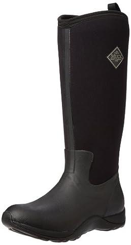 Muck Boots Arctic Adventure, Women Warm Lining Rain Boots, Black (Black), 6 UK (39/40 EU)