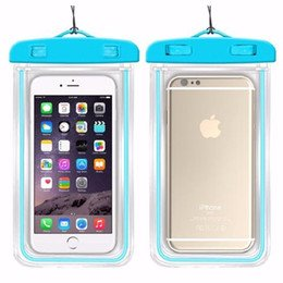 Phone Waterproof Sealed Transparent Bag,Waterproof Bag With Luminous Underwater Pouch Phone Case for iphone Samsung HTC