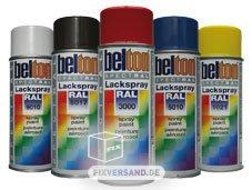 Unbekannt Kwasny RAL Lackspray Spray Paint Peinture Aerosol 400ml Autolackfarbe Lackfarbe Farbe Spraydose Sprayfarbe