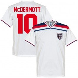 1982 England Home Retro Trikot + McDermott 10 - S