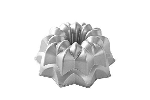NordicWare Bundt Vintage Star Cake Pan, Aluminium, Silber, 25,4 x 25,4 x 12,7 cm Bundt Form Pan