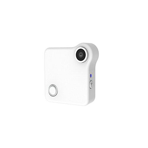 MagiDeal C1 HD 720P Macchina Fotografica IP Cam Sensore di Movimento + Staffa di Montaggio Magnetico per Moto Bici Casa Ufficio - Bianca