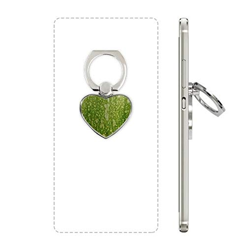 cold master DIY Green Pumpkin Peel Macro Photo Patterns Heart Cell Phone Ring Stand Holder Bracket Universal Support Gift