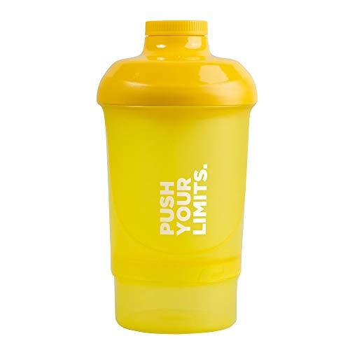 Prozis Nano Shaker Push Your Limits 300ml + 150ml - Gelb - Single Size
