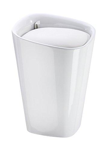 Wenko 21988100 Candy Badhocker mit abnehmbarem Wäschesack, Fassungsvermögen, 20 L, eckig, Kunststoff, 35 x 50 x 35 cm, weiß - 5