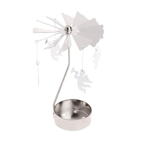 Yanhonin Kerzenhalter, drehbar, Metall, Karussell, perfekt für Weihnachten/Hochzeit, Innendekoration 02
