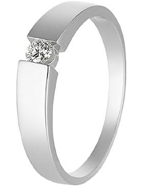 CHRIST Diamonds Damen-Ring 585er Weißgold 1 Diamant ca. 0,10 ct. (weißgold)