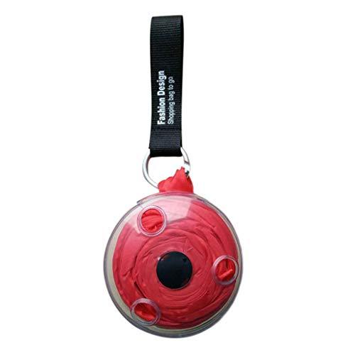 TAMALLU Bag Casual Creative Faltbare Einkaufstasche Wiederverwendbare Tragetasche Große Kapazität(Rot)