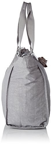 Kipling Damen New Shopper L Tote, 48.5x34x0.1 cm Grau (Cloud Sky)