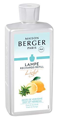 LAMPE BERGER Duft Light Belebende Frische/Zitronen Raumduft, Plastik, Klar, 500 ml -