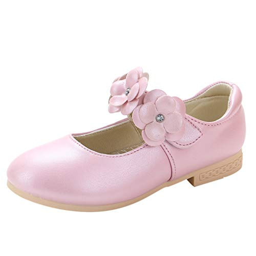 SuperSU-sandalen Mädchen ▶▷ Kinder Sommer Weich Gemütlich Einfarbig Blume Klettverschluss Design Mary Jane Halbschuhe,Mädchen Sandalen Kleinkind Schuhe Lässigeschuhe Tanzschuhe