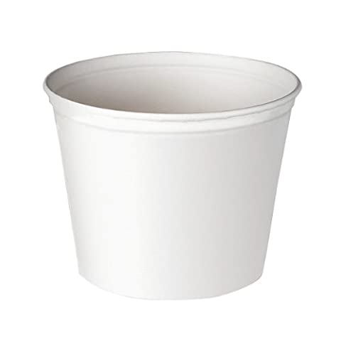 ** Double Wrapped Paper Bucket, Waxed, White, 165