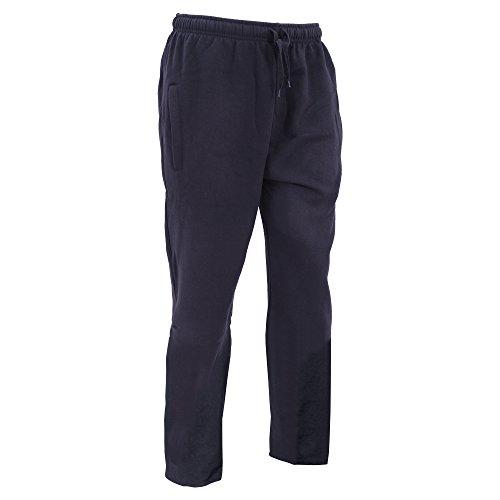FLOSO - Pantaloni sportivi - Uomo (Taglia L - girovita 91 cm) (Blu (Navy Pantaloni)