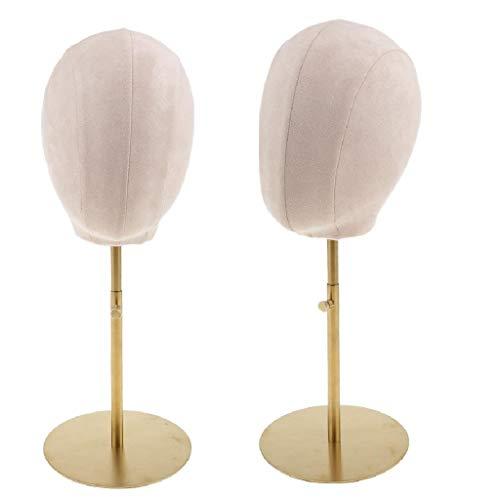 Perfeclan 2 Stk Wildleder Kork Mannequin Modell Kopf Schaufensterpuppe Dekokopf Perückenkopf, Perücken Hüte Display Ständer Fedora-pin