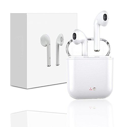 Auriculares Bluetooth, Auriculares Bluetooth con Estuche de Carga Auriculares intrauditivos Mini con Micrófono, Manos Libres para iPhone X7 7plus 6S 8 8 Plus Samsung iOS Android