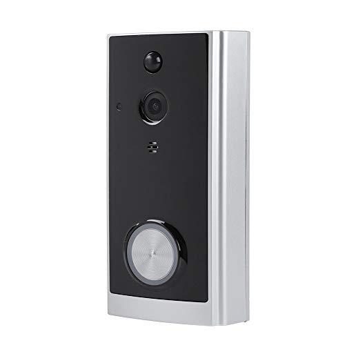 Bewinner Video Türklingel, Remote WiFi Wireless Smart Visuelle Türklingel,Video Tür Gegensprechanlage mit Instant Message Push/Bewegungserkennung für iOS/Android Handy -