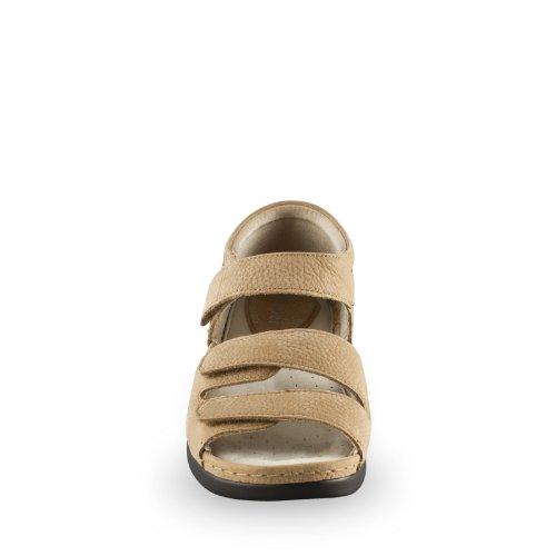 Propet Ortho Walker III Large Cuir Chaussure de Marche Kaki