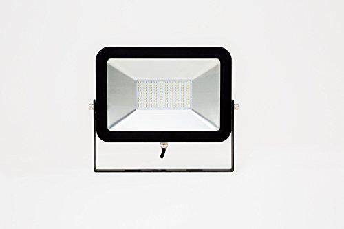 Fluter AML® FL-50 (schwarz) hocheffizienter Outdoor LED Außenstrahler für Gewerbe und Industrie, 4.500lm, 50W, IP65