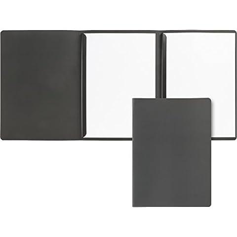 Brunnen - Raccoglitore per domande di lavoro e presentazioni, cartoncino leggero 370 gsm, formato A4, colore nero