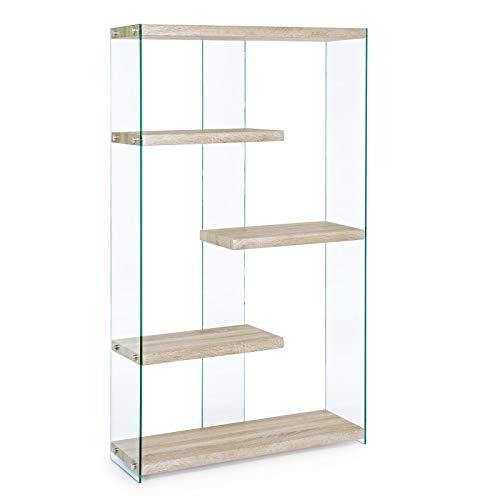 Milo srl libreria scaffale libreie mensola mensole scaffale moderno design legno cameretta scaffali (91,5 x 30 x 160 cm)