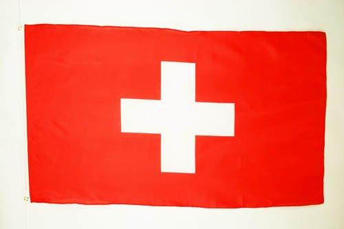 AZ FLAG Flagge Schweiz 90x60cm - HELVETISCHE Fahne 60 x 90 cm - flaggen Top Qualität