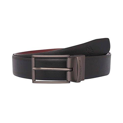U.S. Polo Assn. Mens Leather Buckle Closure Formal Belt