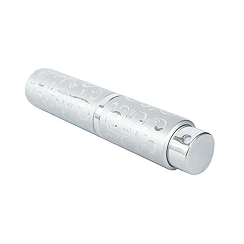BulzEU 10ml Vaporisateur de Parfum Vide Atomiseur Flacon de Pulvérisation - Bouteille de Parfum Toilette Voyage Avion Cabine - Argent