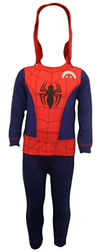 Spiderman Boy's Pyjamas 7-8 (Man Kapuzen Kostüme Spider)