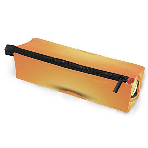 Sacchetto della matita sunglasses occhiali da sole smile face happy eyes emoji love cosmetic students cancelleria pouch zipper per girls boys