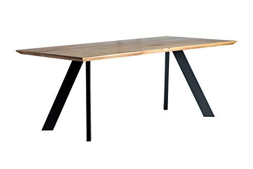 Alkove - Hayes – Massivholztisch mit A-förmigen Metallbeinen, 200cm, Wildeiche