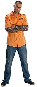 Disfraz de priosionero para hombre, camisa y accesorios, Talla única adulto (Rubie