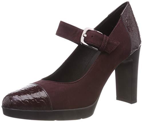 Geox D Annya High B, Zapatos Tacón Mujer, Dk Burgundy