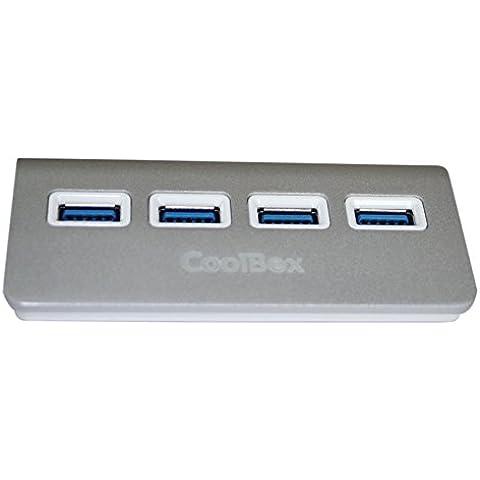 CoolBox - HUB ALU-3 4 PUERTOS USB3.0
