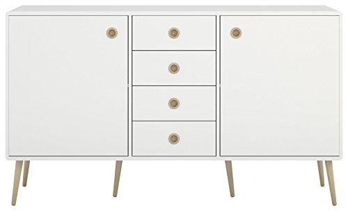 Steens Kommode Soft Line, Anrichte, Sideboard, Schrank mit 4 Schubladen und 2 Türen, (B/H/T) 153 x...