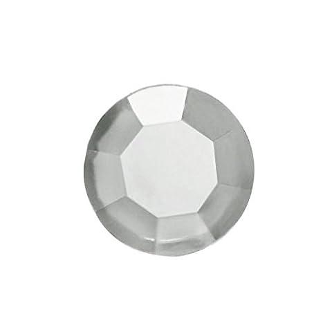 Zacoo 1000 Stücken Klein Rund Strasssteine für Nail Art 1x1x0.7mm SS4 Weiß