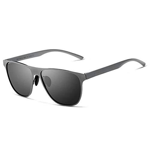 AnSuu Männliche und weibliche polarisierten Sonnenbrillen Edelstahl TR90 Sonnenbrillen