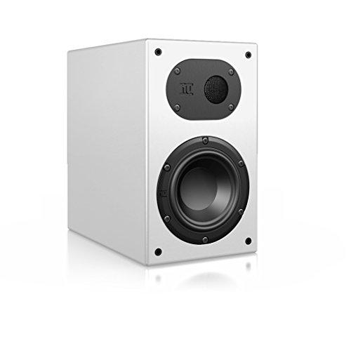 Nubert nuLine 24 Regal-/Dipol-Lautsprecher 2-Wege (12cm Tieftöner,2 x 1.9cm Hochtöner,120/170 Watt,55-27000Hz) Stück, Lack Weiß
