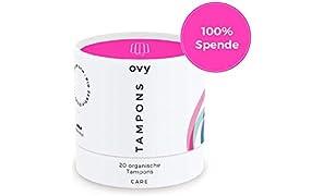 Tampons Bio Baumwolle | Tampon Dose mit 20 BIO Tampons | OHNE Chemikalien & Plastik | Leichte bis Mittlere Periode | Menstruationstasse Alternative