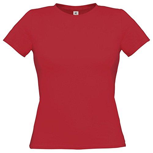 Flirty Wardrobe B & C uniquement Drap en coton T-shirt pour femme Rouge - Rouge profond