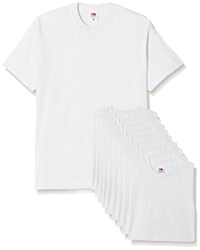 Fruit of the loom mens original pack, t-shirt uomo, bianco, x-large