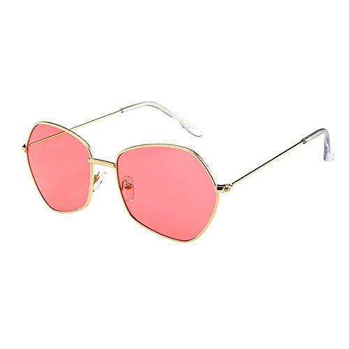 Honestyi Der unregelmäßige Rahmen der Männer Frauen Retro Vintage Sonnenbrillen Brillen Unregelmäßige Sonnenbrillen